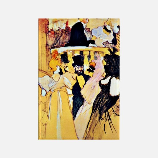 Toulouse-Lautrec: At the Opera Rectangle Magnet