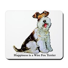 Fox Terrier Happiness Mousepad