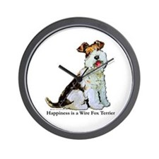 Fox Terrier Happiness Wall Clock