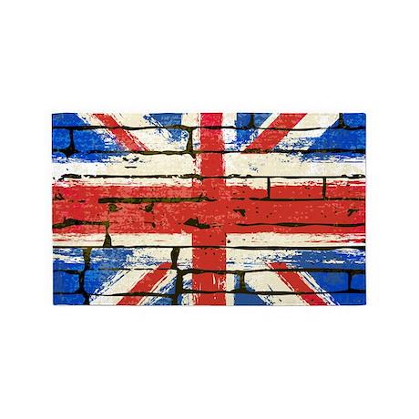 Grunge British Flag 3'x5' Area Rug