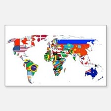World flag map Bumper Stickers