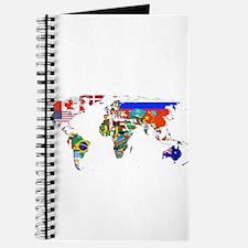 World flag map Journal