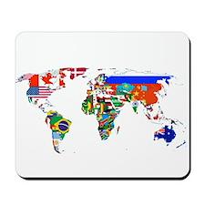 World flag map Mousepad