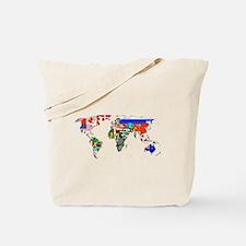 World flag map Tote Bag