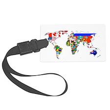 World flag map Luggage Tag