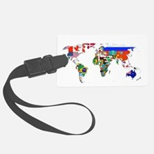 World flag map Luggage Tag