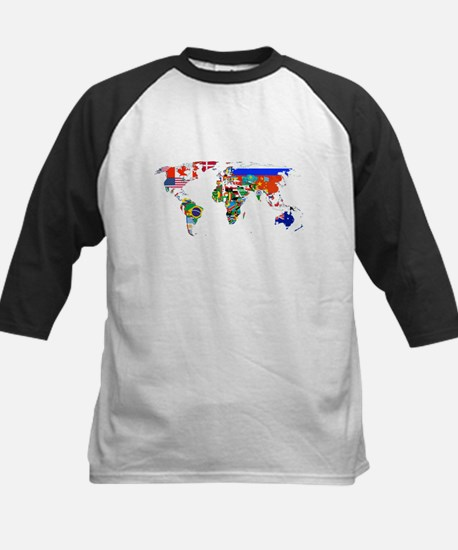 World flag map Baseball Jersey