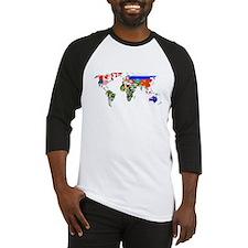 World flag map Baseball Jersey