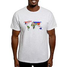 World flag map T-Shirt