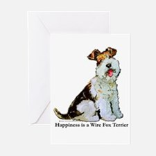 Fox Terrier Happiness Greeting Cards (Pk of 10