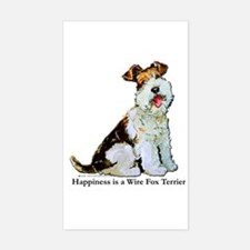 Fox Terrier Happiness Rectangle Decal