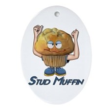 Stud Muffin Oval Ornament