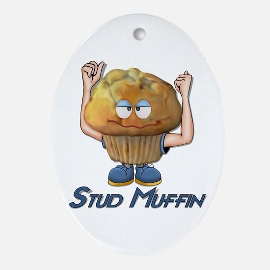 Stud Muffin Oval Ornament