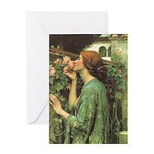 My Sweet Rose by JW Waterhouse Greeting Card