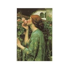 My Sweet Rose by JW Waterhouse Rectangle Magnet