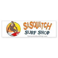 Sasquatch Surf Shop Bumper Car Sticker