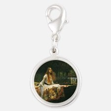 Lady of Shalott by JW Waterhou Silver Round Charm