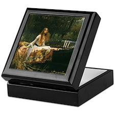 Lady of Shalott by JW Waterhouse Keepsake Box