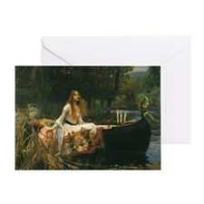 Lady of Shalott by JW Waterhouse Greeting Card