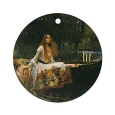 Lady of Shalott by JW Waterhouse Round Ornament