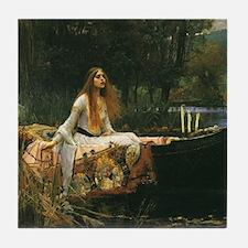 Lady of Shalott by JW Waterhouse Tile Coaster