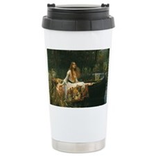 Lady of Shalott by JW Waterhous Thermos Mug