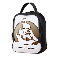 Pirate Ship Halloween Neoprene Lunch Bag
