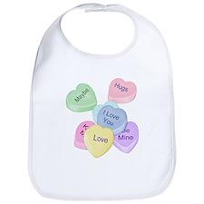 Valentine Candy Hearts Bib