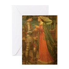 Tristan and Isolde by JW Waterhouse Greeting Card