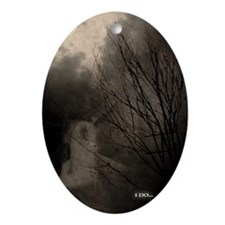 Ghost Bride Oval Ornament