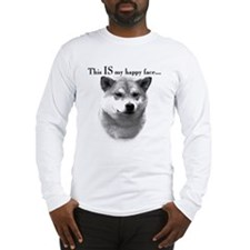 Shiba Inu Happy Face Long Sleeve T-Shirt