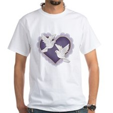 Hearts and Doves - Purple Shirt