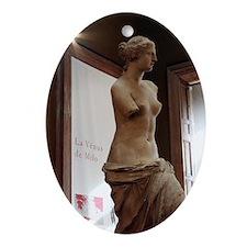 """""""Venus de Milo"""" Louvre Oval Ornament"""