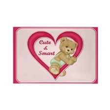 Teddy Heart Rectangle Magnet