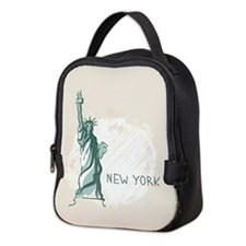 New York Neoprene Lunch Bag
