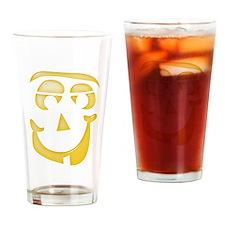 Halloween Pumpkin Face 1 Drinking Glass