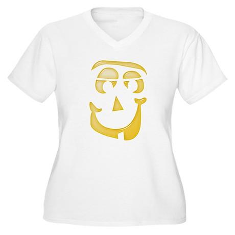 Halloween Pumpkin Face 1 Plus Size T-Shirt