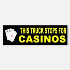CASINO BUMPER STICKER Bumper Bumper Bumper Sticker