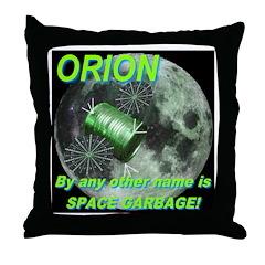 Shakespearean Space Garbage Throw Pillow