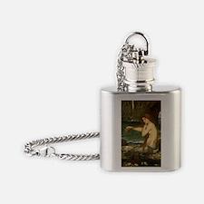 Mermaid by JW Waterhouse Flask Necklace