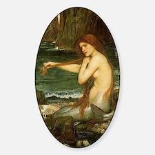 Mermaid by JW Waterhouse Sticker (Oval)