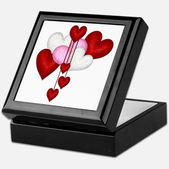 Romantic Hearts Keepsake Box