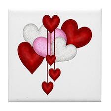 Romantic Hearts Tile Coaster