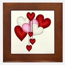 Romantic Hearts Framed Tile