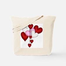 Romantic Hearts Tote Bag