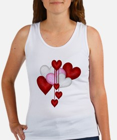 Romantic Hearts Women's Tank Top