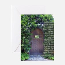 When One Door Closes Greeting Cards