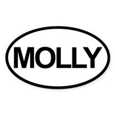 Sticker Oval - Molly