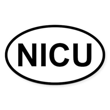 Sticker Oval - NICU