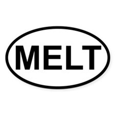 Sticker Oval - Melt